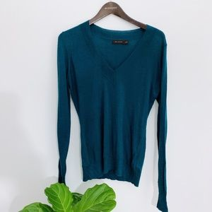4/$25 The Limited Teal Colored V-Neck Merino Wool